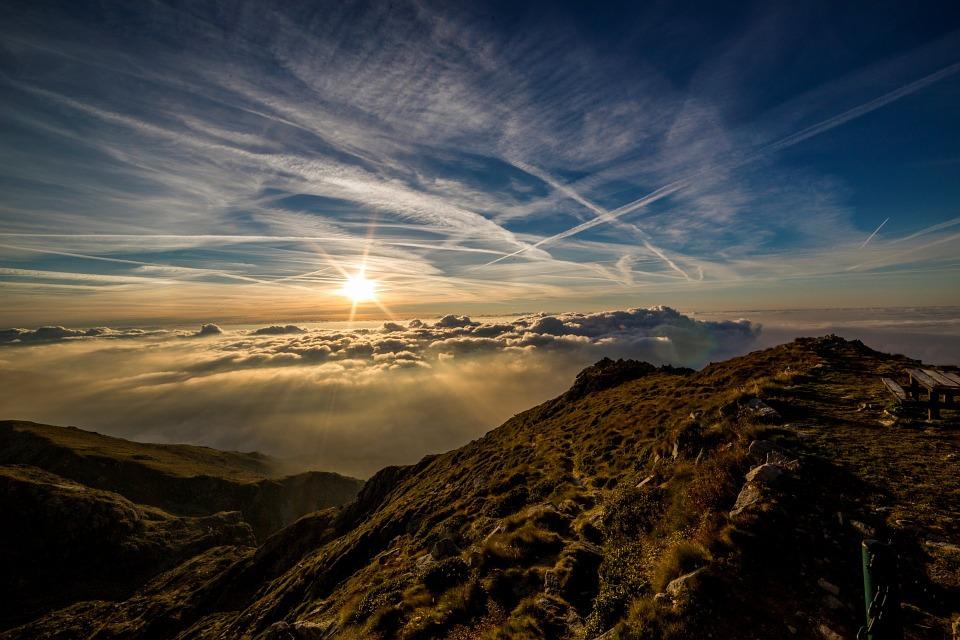 piękny pejzaż górski